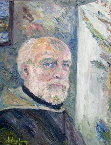 Pinturas Abraham de la Cruz, óleos, Autoretrato
